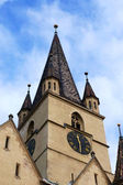 Den evangeliska katedralen i sibiu, rumänien — Stockfoto