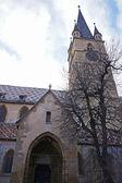 Evangelická katedrála sibiu v rumunsku — Stock fotografie
