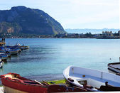 Palermo coastview with Pellegrino Mount — Stock Photo