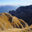Panoramic view from Bucegi Mountains in Romania — Stock Photo