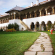 Coutyard of the Polovragi monastery in Romania — Stock Photo #26806739
