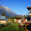 Mountain chalet with a beautiful panorama — Stock Photo #30579343