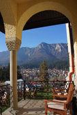 Portico with mountain panorama — Stock Photo
