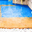 Steps to swimming pool in resort style hotel — Zdjęcie stockowe #27155779