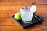 Glass of fresh homemade tasty lemon soda — Stock Photo