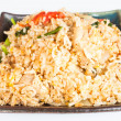 Fried rice with deep fried pork garlic and vegetable — Stock Photo