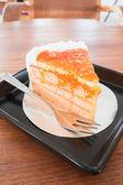 Homemade orange marmalade cake — Stock Photo