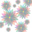 Seamless floral pastel pattern with colorful flowers — Stock Vector