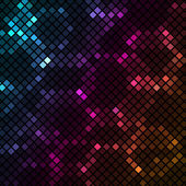 Mosaic with colourful hexagons background — Stock Vector