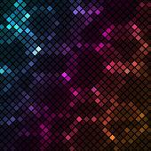 Mosaico con fondo colorido hexágonos — Vector de stock