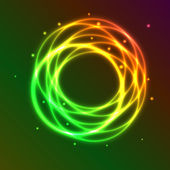Abstract background with colorful plasma circle effect — ストックベクタ