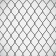 Wire fence on white background — Stock Vector