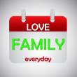 Stock Vector: Love family everyday calendar icon