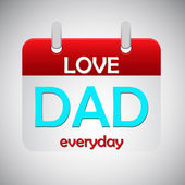 Love dad everyday calendar icon — Stock Vector