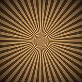 Brown radial rays abstract background — Stock Vector