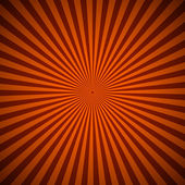 Orange radial rays abstract background — Stock Vector