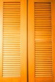 Houten deur met luchtstroom uitgesproken textuur — Stockfoto