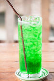 Fresh green drink with out alcohol on table — Stock Photo