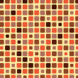 Stock Vector: Orange shade tile mosaic background
