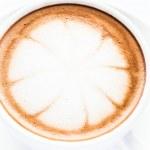 Close up hot cafe mocha isolated on white background — Stock Photo