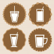 Set of coffee cup icon badges — Stockvectorbeeld