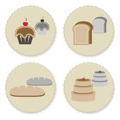 Set of vintage variety bakery badges — Stock Vector