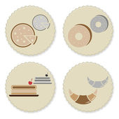 Set of vintage homemade bakery badges — Stock Vector