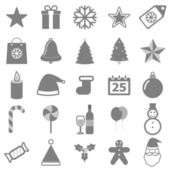 Christmas icons on white background — Stock Vector