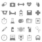 Ícones de saúde sobre fundo branco — Vetor de Stock