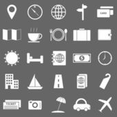 Travel icons on gray background — Stock Vector