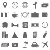 Travel icons on white background — ストックベクタ