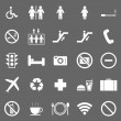Plublic icons on gray background — Image vectorielle