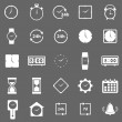 Stock Vector: Time icons on gray background