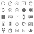 Time icons on white background — Vector de stock