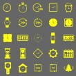 Time color icons on gray background — Vettoriali Stock