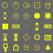 Time color icons on gray background — Stock Vector