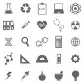 Science icons on white background — Stock Vector