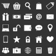 Ecommerce icons on black background — Stock Vector