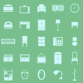 Bedroom color icons on green background — Stockvektor