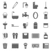 Bathroom icons on white background — Stock Vector