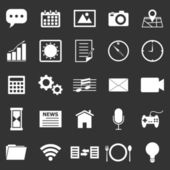 Application icons on black background — Stockvektor