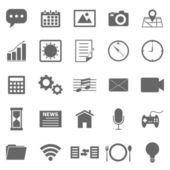 Iconos de aplicaciones sobre fondo blanco — Vector de stock
