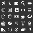Application icons on black background. Set 2 — Grafika wektorowa