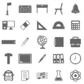 School icons on white background — ストックベクタ