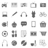 Hobby icons on white background — Vector de stock