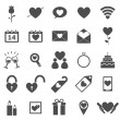 Valentine's day icons on white background — Grafika wektorowa