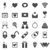 Valentine's day icons on white background — Stock Vector