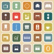 Living room flat icons on light background — Stock Vector