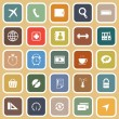 Application flat icons on orange background. Set 2 — Grafika wektorowa