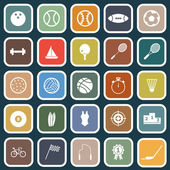 Sport flach Symbole auf blauem Hintergrund — Stockvektor